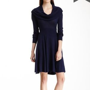 BCBG MAXAZRIA Shiela Wool Knit Cowl Neck Dress NWT